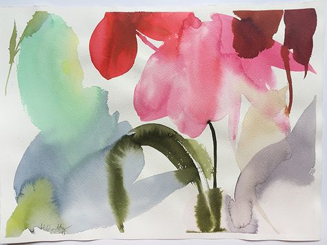 Cyclamen reflections from Helen Dealtry for Woking Girl Designs