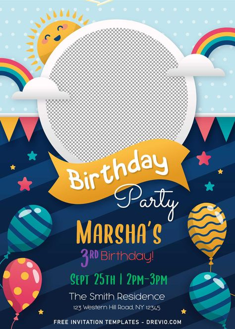 8+ Personalized Kids Birthday Party Invitation Templates For Any Ages