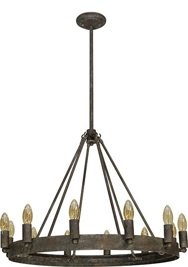 Frome 12 Light Pendant Industrial Retro Lighting New Zealand S