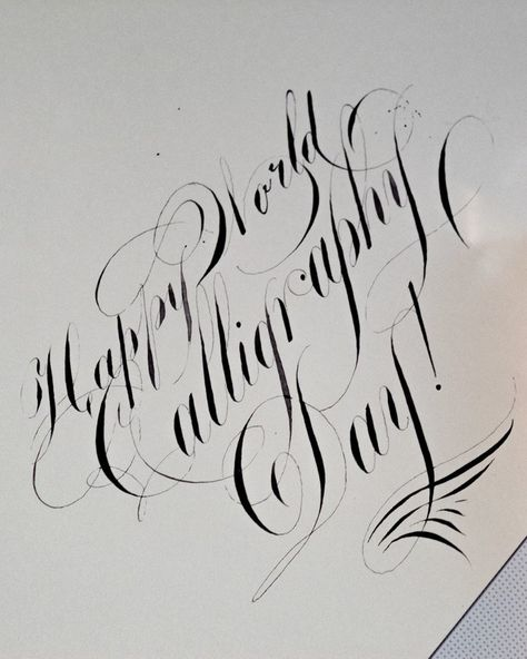 Little late! #worldcalligraphyday  #typism #typespire #TYxCA #typespot #thedailytype #typedaily #letteringco #handmadefont #calligritype #designspiration #ligaturecollective #typetopia #typespot #betype #bftype #typedrawn #typematters #typeworship #typegods #thedesigntip #thedesignfix #typographyinspired #typography #typeworldwide #50words #typeoozle #typeyeah #letteringdaily