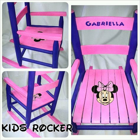 Minnie Mouse Rocking Chair Diy | DIY Rocking Chair | Pinterest | Minnie  Mouse And Birthdays.