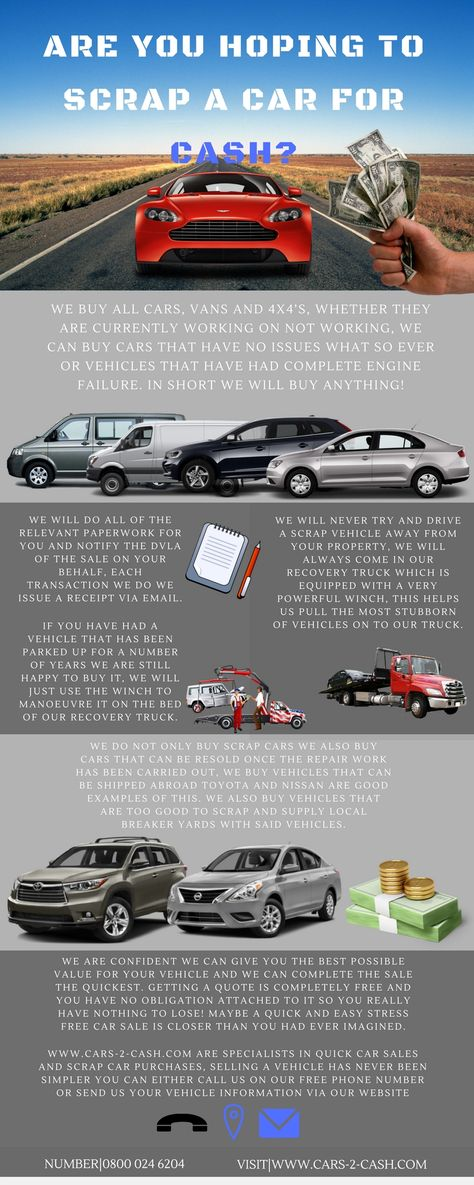 We buy all cars, vans and 4x4\'s, whether they are currently working ...