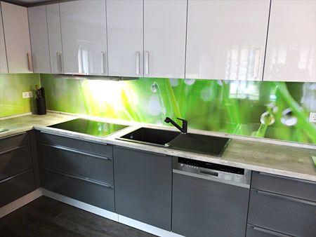 Küchenrückwand aus Alu-Verbund, Acryl Plexi-oder ESG-Glas als - küchenrückwand glas bedruckt