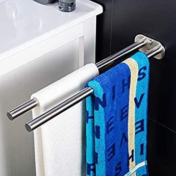 Zunto Handtuchhalter 40 Cm Bad Handtuchstange Ohne Bohren Badetuchhalter Edelstahl Selbstklebend Handtuc In 2020 Handtuchhalter Zweiarmig Handtuchhalter Handtuchstange