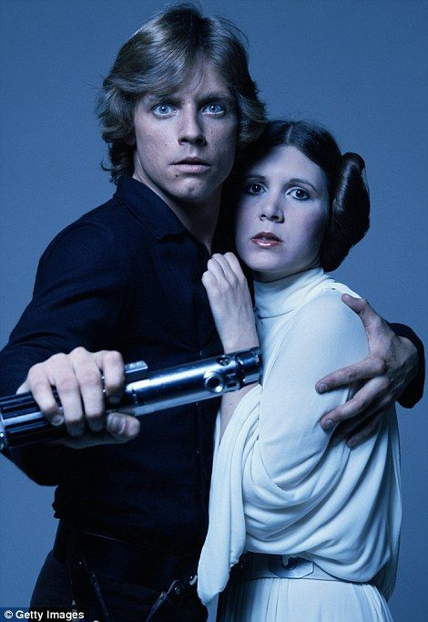 She became a pinup thanks to the franchise: Carrie as Princess Leia in the 1983 film Star Wars: Episode VI - Return Of The Jedi (left) and w...