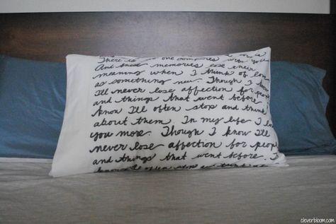 Diy Song Lyric Pillow Song Lyrics Songs Pillows