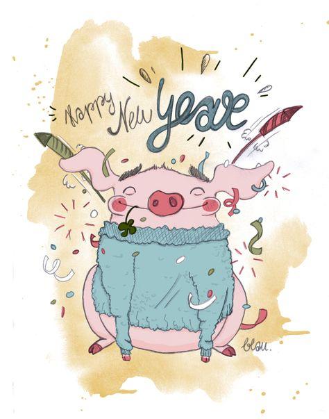 happy #pigglet #pig, #new #year, #neues #jahr, #silvester ...