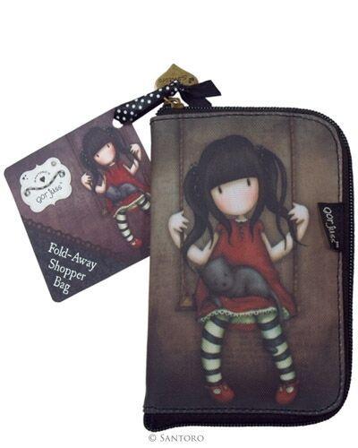 Gorjuss Folded shopping bags shoulder bags Santoro Toadstools Ladybird