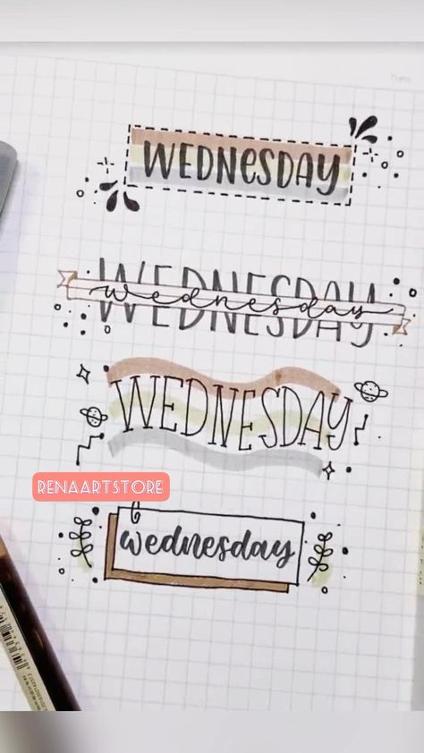 4 ways to decorate bullet journal 📔