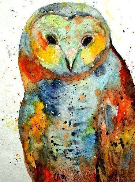 Owl, Illustration-Giclee Art by RickyArtGallery on Etsy