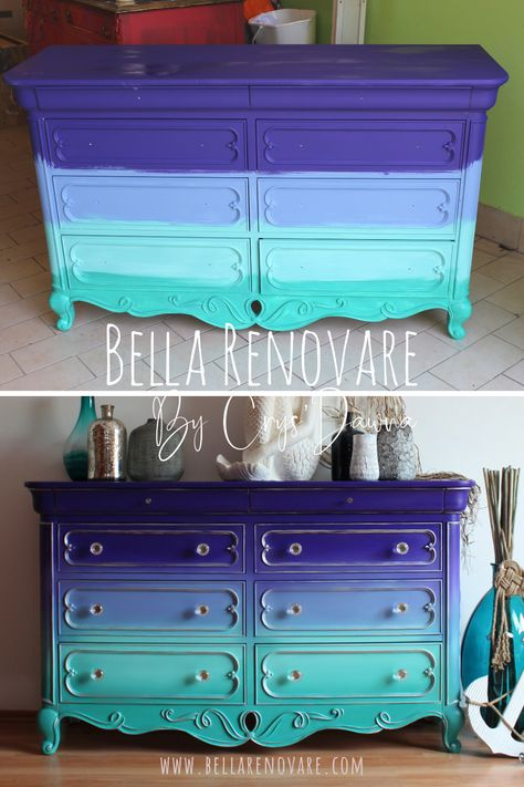 Funky Painted Furniture, Chalk Paint Furniture, Refurbished Furniture, Repurposed Furniture, Furniture Projects, Furniture Makeover, Wood Furniture, Paint Ideas For Furniture, Bella Furniture