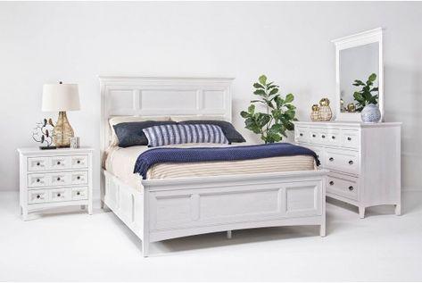 Bay Creek Queen Storage Bed In White Mor Furniture Bedroom