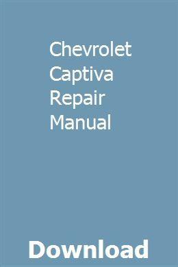 Chevrolet Captiva Repair Manual Owners Manuals Manual Repair Manuals