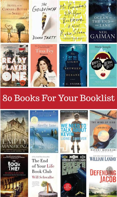 80 Awesome Books For Your Booklist