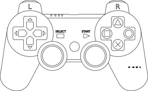 Game Controller Coloring Page