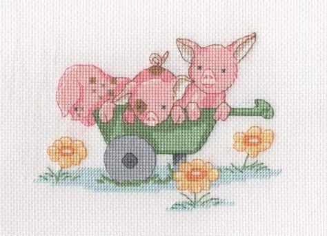 Peek a Boo Birth Sampler Cross Stitch Kit
