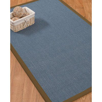 Bloomsbury Market Ivy Border Hand Woven Gray Malt Area Rug Rug Size Rectangle 5 X 8 Rug Pad Included Yes Area Rugs Midnight Blue Area Rug Blue Area Rugs