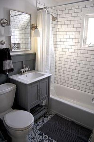 40 Chic Farmhouse Bathroom Remodel Ideas Decoarchi Com Small Bathroom Gray And White Bathroom Small Bathroom Inspiration