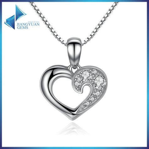 925 Sterling Silver Romantic Silver Heart Pendant Necklace Purity : 92.5%. Type : Necklace. Accessory Material : Cubic Zirconia. Style : Simple. Usage : Decoration. R&D Capacity : 500 New Designs Per Month. Service : OEM ODM Customized. Top 5 jewelry manufacturer in china * Over 500,000 styles offering. * Factory direct. * Stock available welcome order. * Customized designs and engraving logo are available. Over 500,000 designs 300 + new designs produced every week ! Here just some part