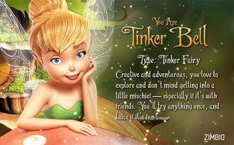 I'm Tinker Bell! Which Disney Fairy are you? #ZimbioQuiz #DisneyFairy - Quiz
