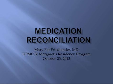 The  Best Medication Reconciliation Ideas On