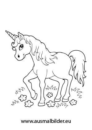 Ausmalbild Verzaubertes Einhorn Einhorn Zum Ausmalen Ausmalen Pferde Bilder Zum Ausmalen