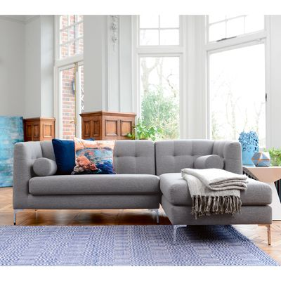 Click To Zoom Lyon Right Hand Corner Sofa Grey Fabric Corner Sofa Modern Corner Sofa Design Sofa Design