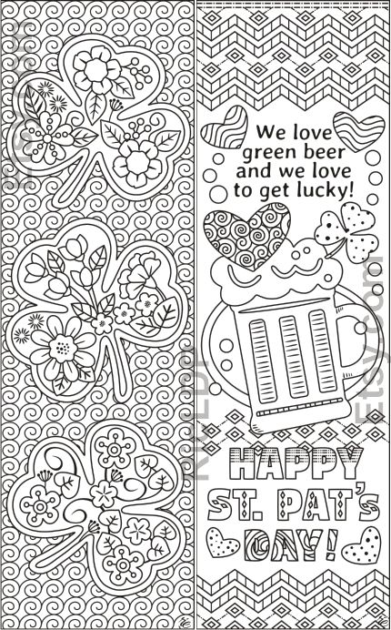 Set Of 8 St Patrick S Day Coloring Bookmarks Shamrock Etsy Coloring Bookmarks People Coloring Pages Coloring Pages