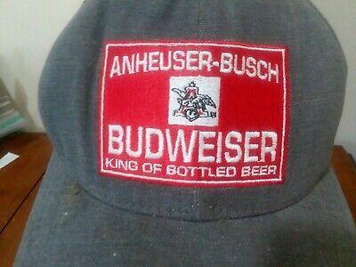 Mens Cap Hat Anheuser Busch Budweiser King Of Bottle Beer Retro Series 1930 Ebay Mens Caps Caps Hats Budweiser