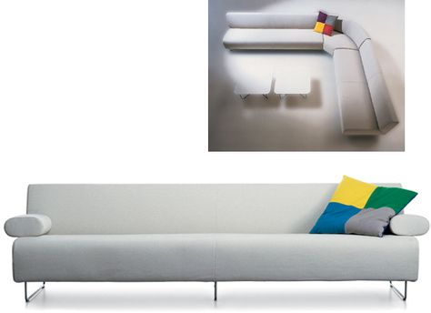 Elan sofa Jasper Morrison for Cappellini lounge seating on the modern side Pinterest Sofa daybed Daybed and Living rooms