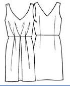 sz. 42  (bust 94cm) Cocktail Dress Pattern Free | THE TRUNK OF COSTURERAS