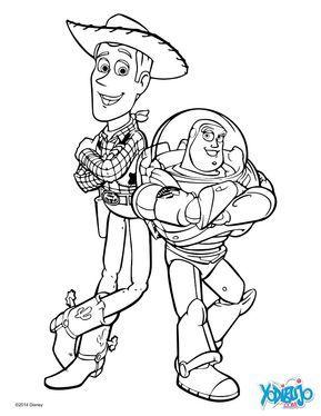 Dibujo Para Colorear Woody Y Buzz Lightyear Woody Y Buzz Dibujos Dibujos De Personajes De Disney