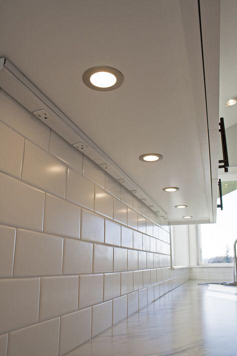 under cabinet plugs Kitchen Craftsman with corner sink counter lighting