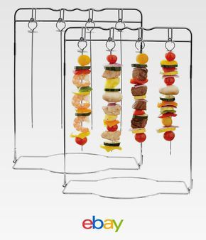 2pk Mr. Bar-B-Q Hanging Shish Kabob Set Grilling Skewer Stand Kebab Barbecue BBQ
