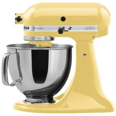 Kitchenaid Kitchenaid Artisan Series 10 Speed 5 Quart Tilt Head Stand Mixer Ksm150 Color Majestic Yellow Kitchenaid Artisan Kitchenaid Bowl Kitchenaid Stand Mixer Attachments