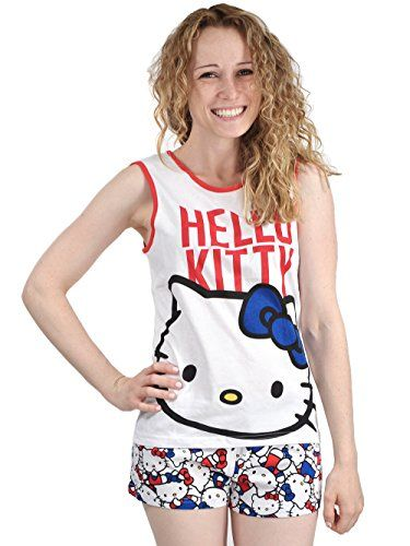 b21363162 Pin by Bem Bem on 2002 | Pajama shorts, Hello kitty clothes, White tank