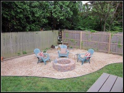 Corner Area Fire Pit Backyard Ideas Fire Pit Landscaping