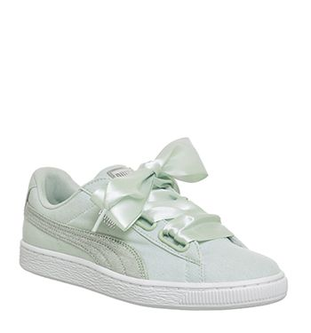 the best attitude 04da2 78f08 Puma, Basket Heart Canvas, Blue Flower Puma White Silver ...
