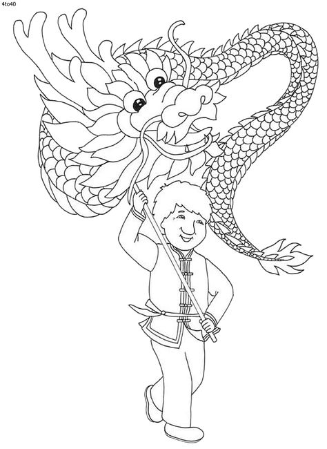 Festivals Coloring Pages Chinese New Year Coloring Page