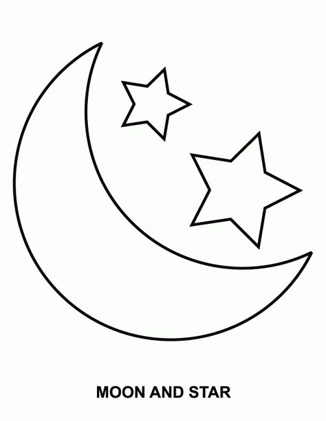 Free Coloring Pages Of Stars And Moon | Coloring Pages | Pinterest ...