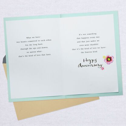 I Will Love You Forever Anniversary Card In 2020 Anniversary Cards Hallmark Greeting Cards Anniversary Greeting Cards