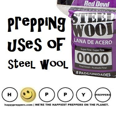 Prepping Uses Of Steel Wool Did You Know You Can Make A Fire From Steel Wool And A Battery Well You Can P Steel Wool Emergency Preparation How To Make Fire
