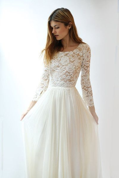 Perfect wedding dress with sleeves! #Wedding dress with sleeves,  #Dress #longsleeveweddingdressmodest #perfect #Sleeves #Wedding