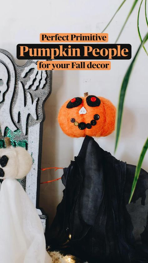 Perfect Primitive Pumpkin People for Your Fall Decor