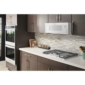 Whirlpool 1 1 Cu Ft Over The Range Low Profile Microwave Hood Combination In White Wml55011hw The Home Depot Gas Cooktop Range Microwave Electric Cooktop
