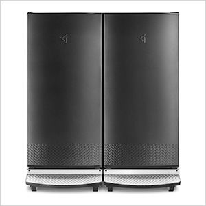 Gladiator Garf30fdgb Gafz30fdgb Refrigerator And Freezer Set In 2020 Garage Refrigerator Freezer Organization Gladiator Garage