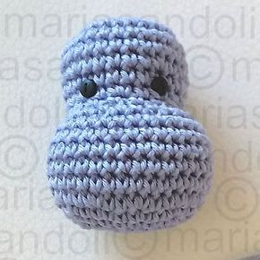 Amigurumi Pattern: The hippopotamus Melman and his friend Pi ... | 290x290