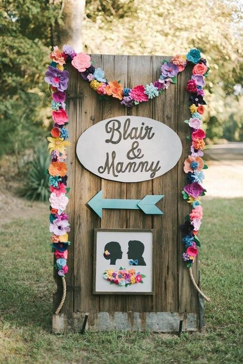 Delightfully colorful outdoor signage   Jen Menard Photography