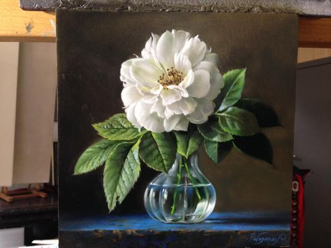 Hyper Realistic Flower Masterpieces By Pieter Wagemans Oil Painting Flowers Floral Painting