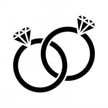 خاتم الزواج الماسي الزفاف أيقونات الزفاف رموز الماس Png والمتجهات للتحميل مجانا Wedding Ring Vector Ring Vector Diamond Wedding Rings